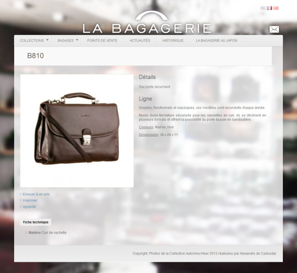 Description d'un sac en cuir