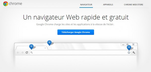 Capture d'écran de la page de Google Chrome