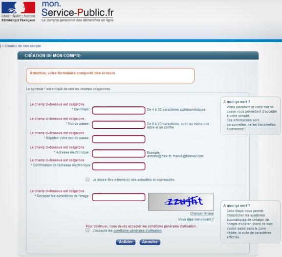 Site officiel du Service Public Français