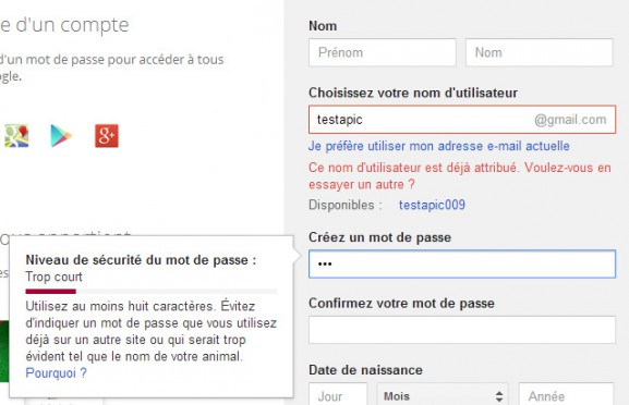 google-inscription