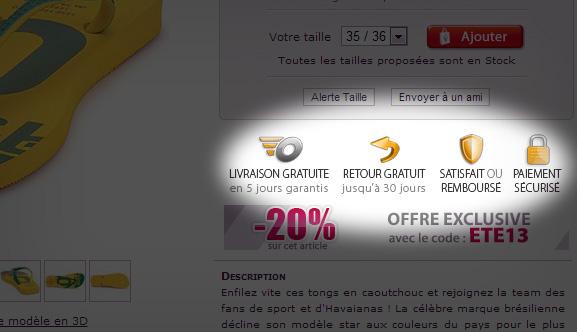 Capture d'écran du site Spartoo