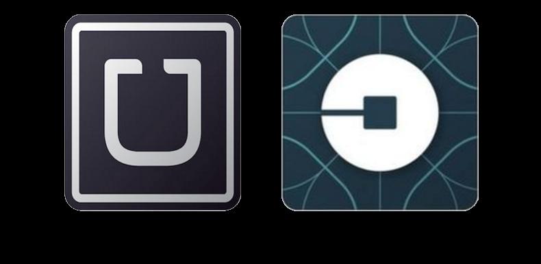 Uber, ancien et nouveau logo