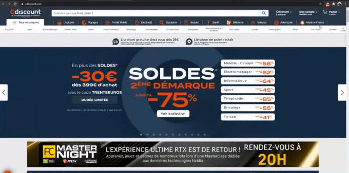 Page d'accueil C-Discount
