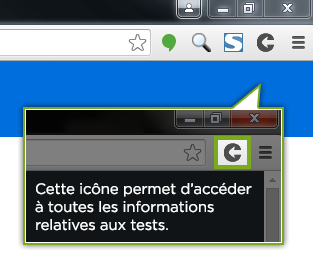 Capture de l'extension Testapic
