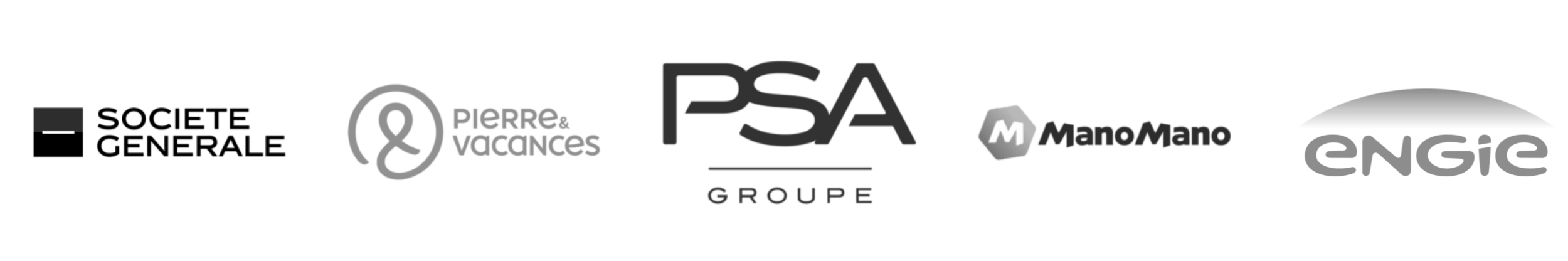 Société Générale - Pierre&Vacances - PSA - ManoMano - ENGIE