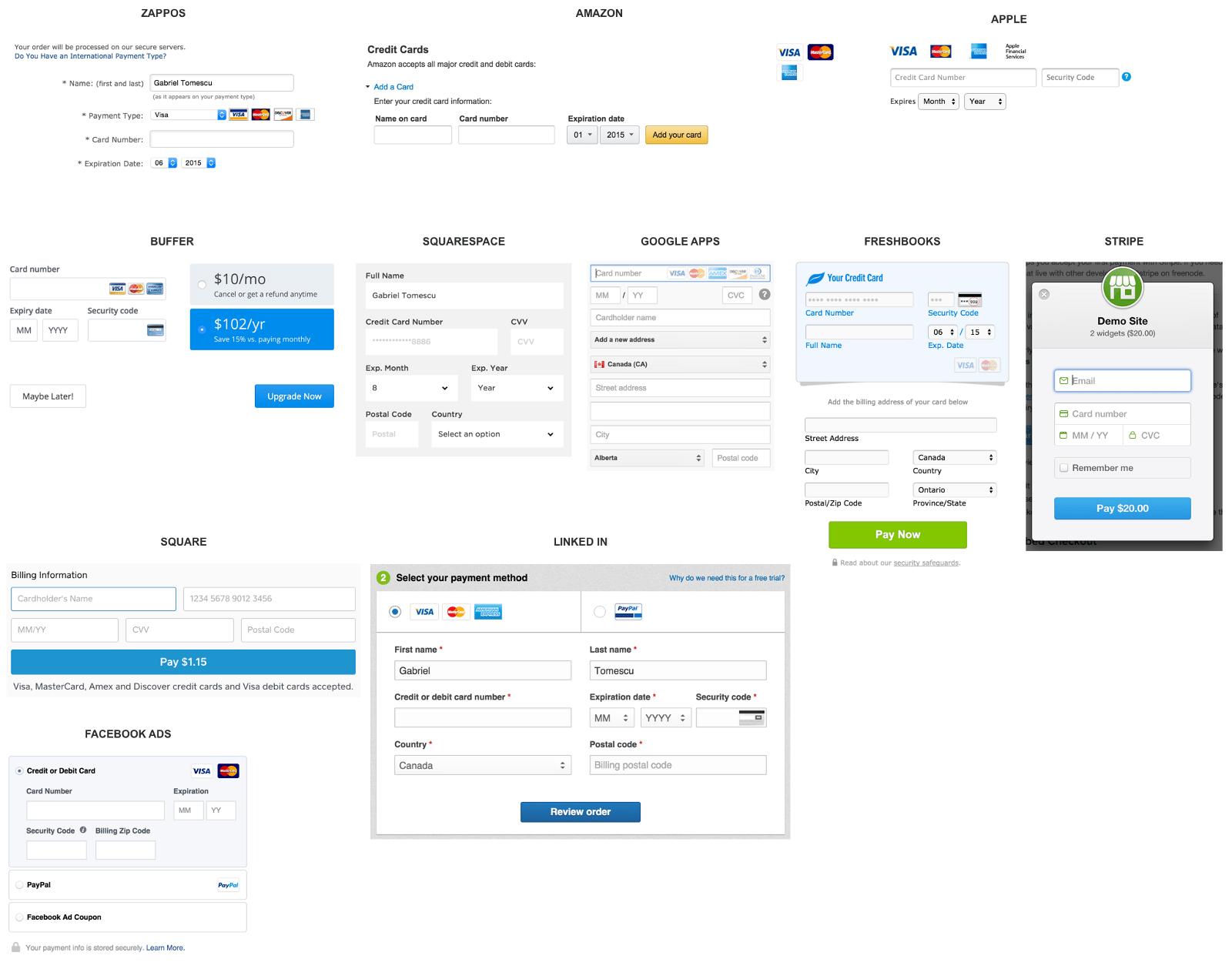 Anatomie d 39 un formulaire de paiement par carte bleue testapic - Carte grise en ligne paiement 3 fois ...
